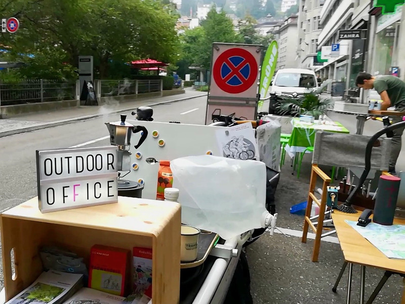 Outdooroffice  am PARK(ing) Day 2020 in St. Gallen