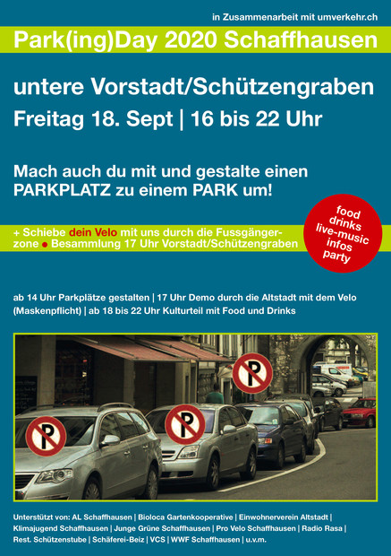 Flyer PARK(ing) Day 2020 in Schaffhausen