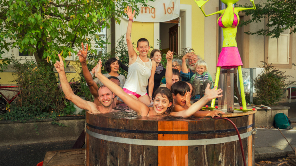 Aktion zum PARK(ing) Day 2019 in Basel